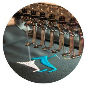 Stickmaschine-macht-Stickmuster
