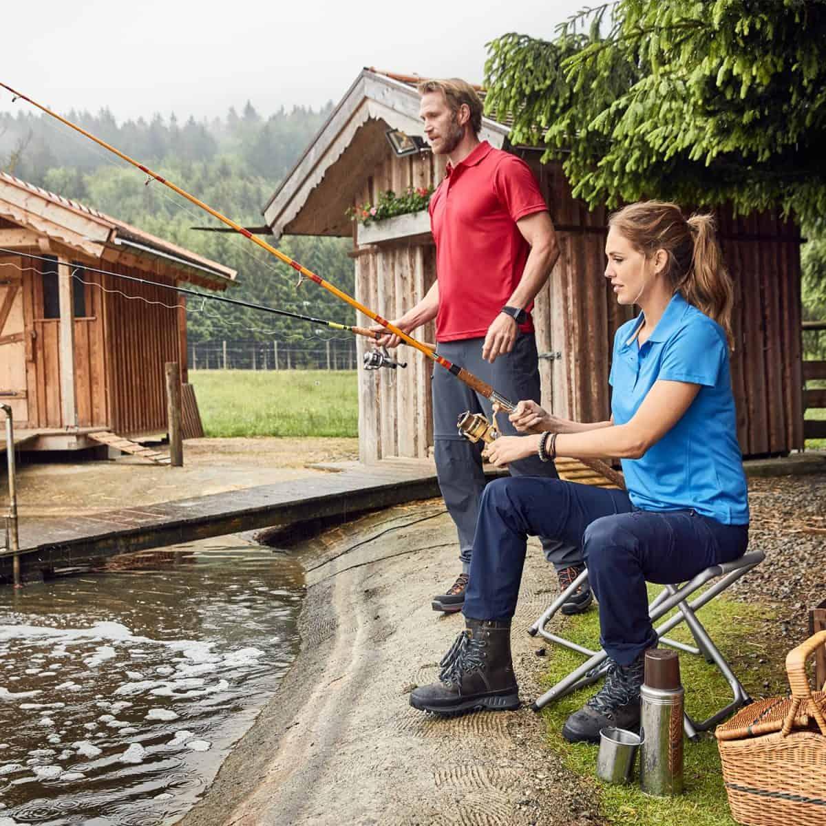 Daiber SportShirts JN401 Red & Azur Model
