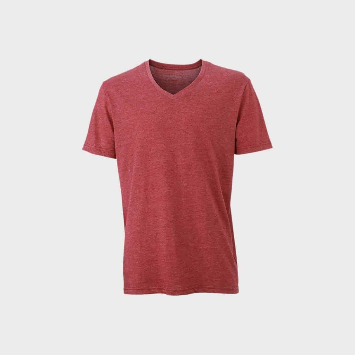 Daiber T Shirts JN974 Winemelange Front