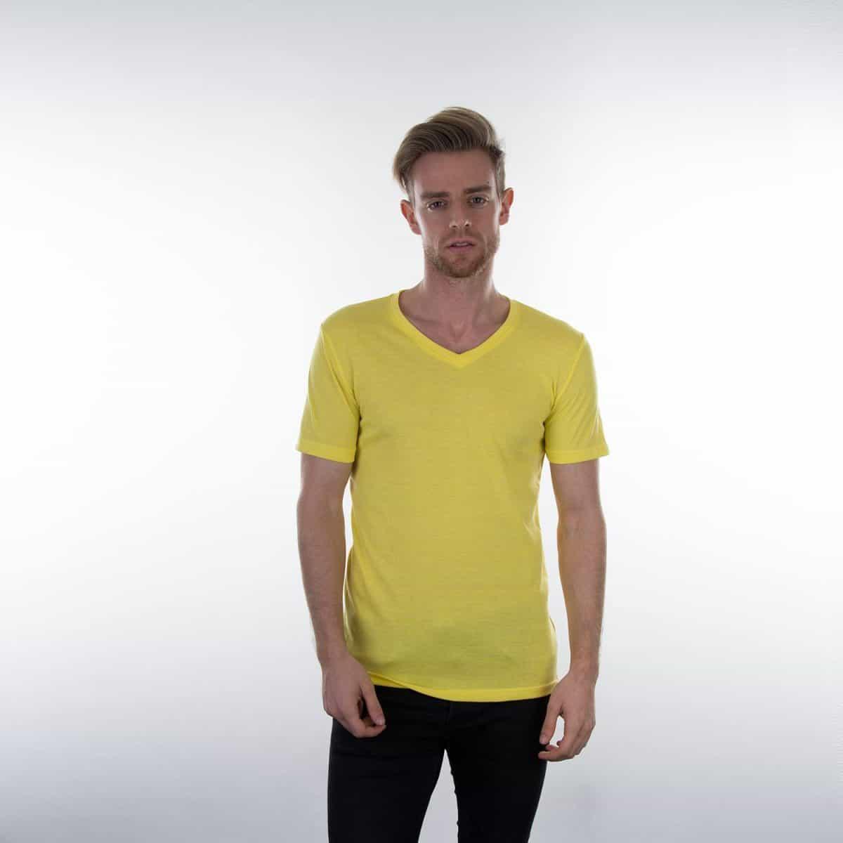 Daiber T Shirts JN974 Yellowmelange Model M