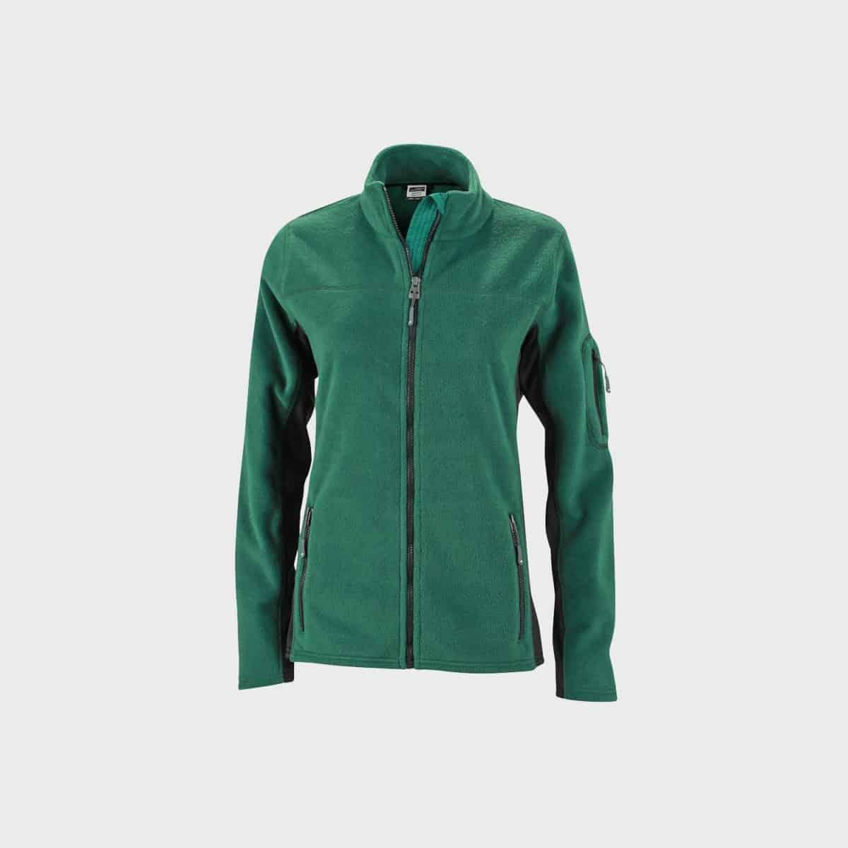 fleece-jacket-workwear-damen-darkgreen-kaufen-besticken_stickmanufaktur