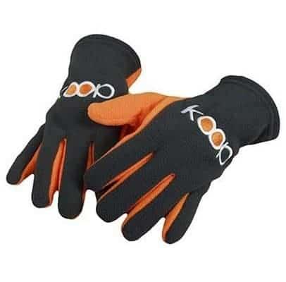 Bestickte Fleecehandschuhe - grau/orange