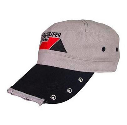 Bestickte Army Cap grau/schwarz