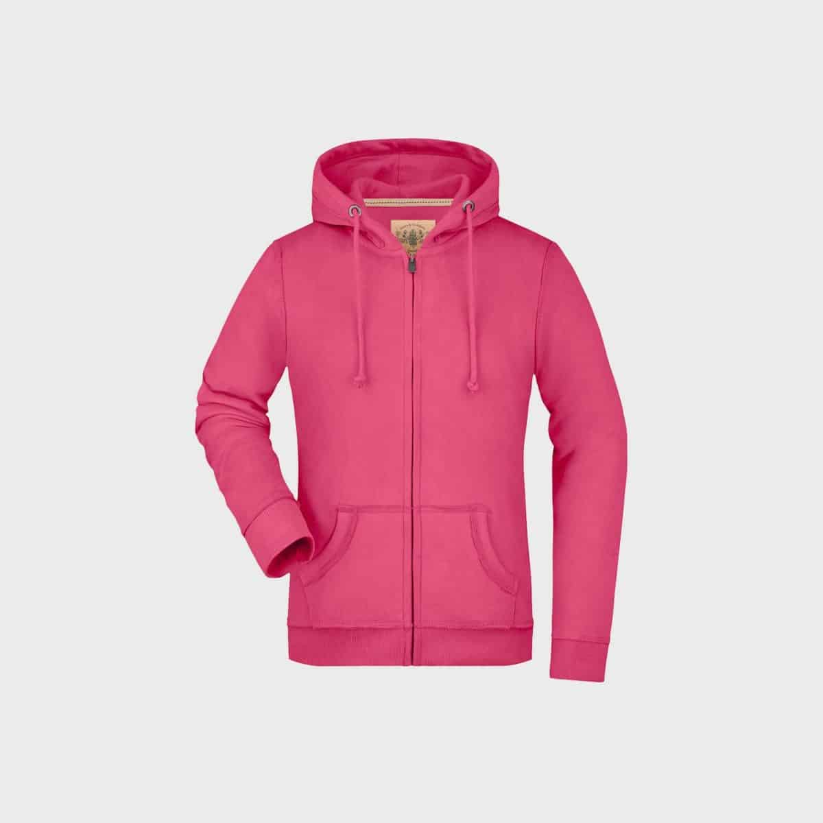 vintage-kapuzenjacke-hooded-sweat-jacket-damen-pink-kaufen-besticken_stickmanufaktur