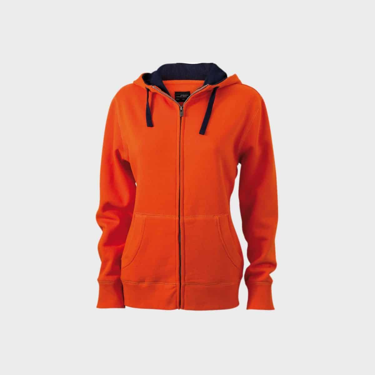 zip-hoodie-sweat-jacket-damen-darkorange-navy-kaufen-besticken_stickmanufaktur