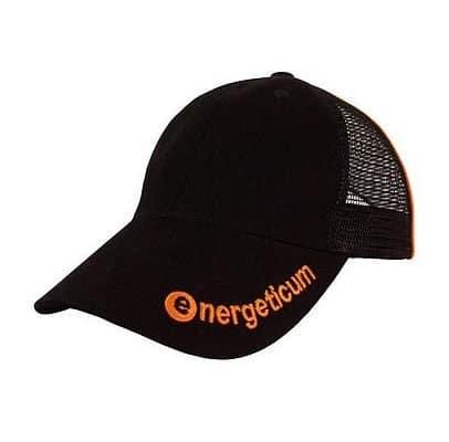 Bestickte Trucker Cap - schwarz/orange