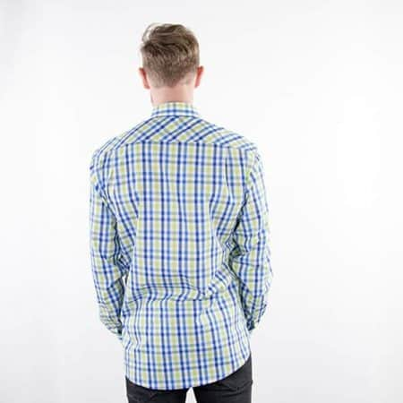 JAMES & NICHOLSON Herren Karo Hemd Model back