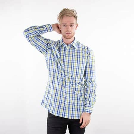 JAMES & NICHOLSON Herren Karo Hemd Model front