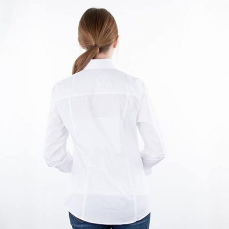 JAMES & NICHOLSON Damen Bluse Plain Model back