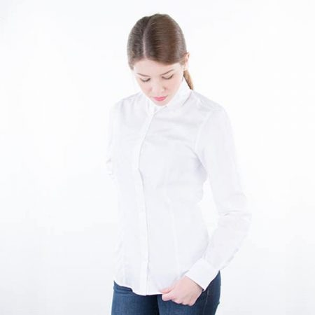 JAMES & NICHOLSON Damen Bluse Plain Model front