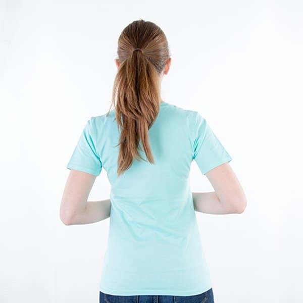 JAMES & NICHOLSON Damen Round T-Shirt Model back