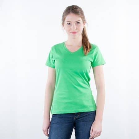 JAMES & NICHOLSON Damen Slim Fit T-Shirt Model front
