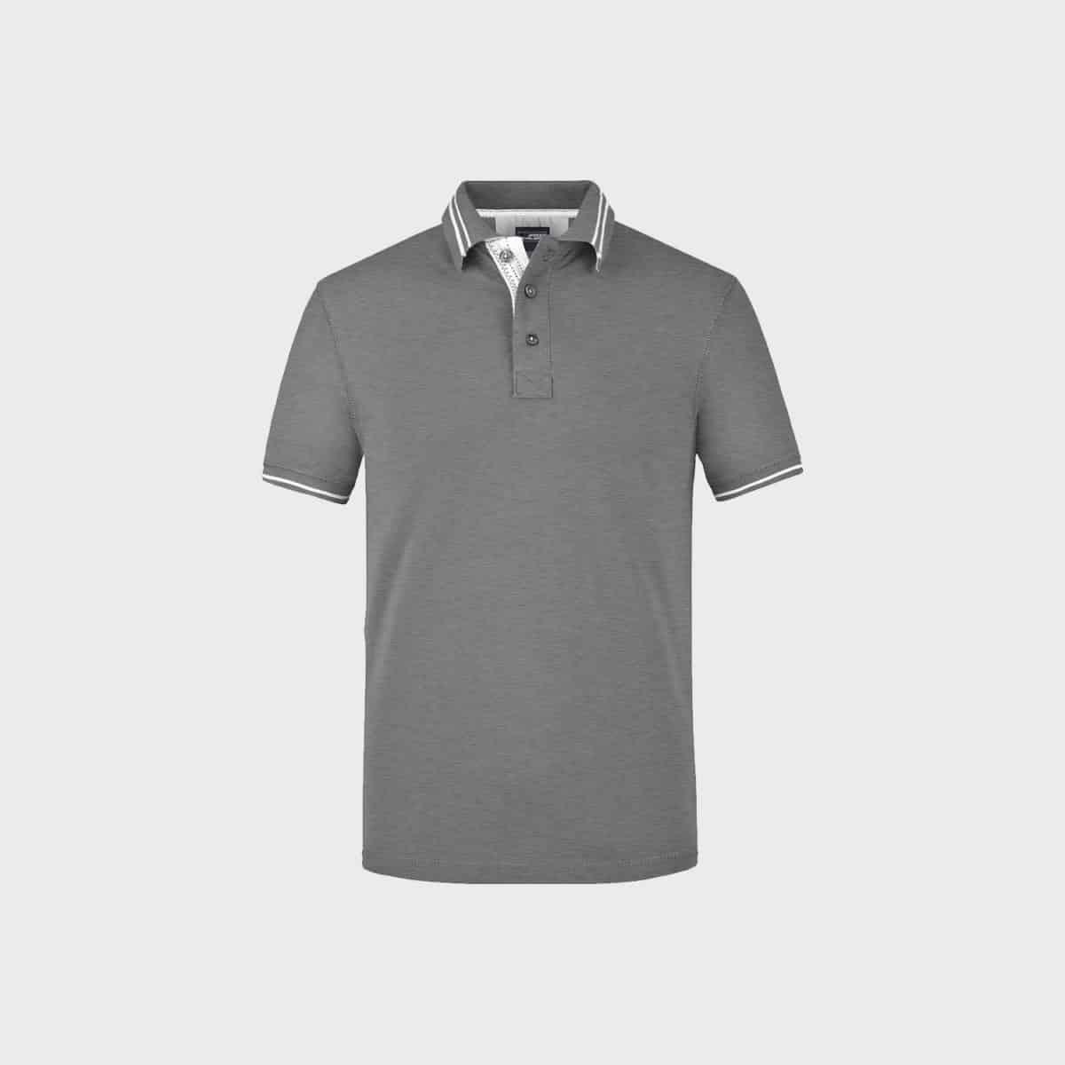 lifestyle-polo-t-shirt-herren-grey-melange-kaufen-besticken_stickmanufaktur