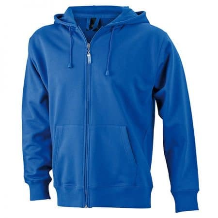 JAMES & NICHOLSON Herren Hoodie Jacke royal front