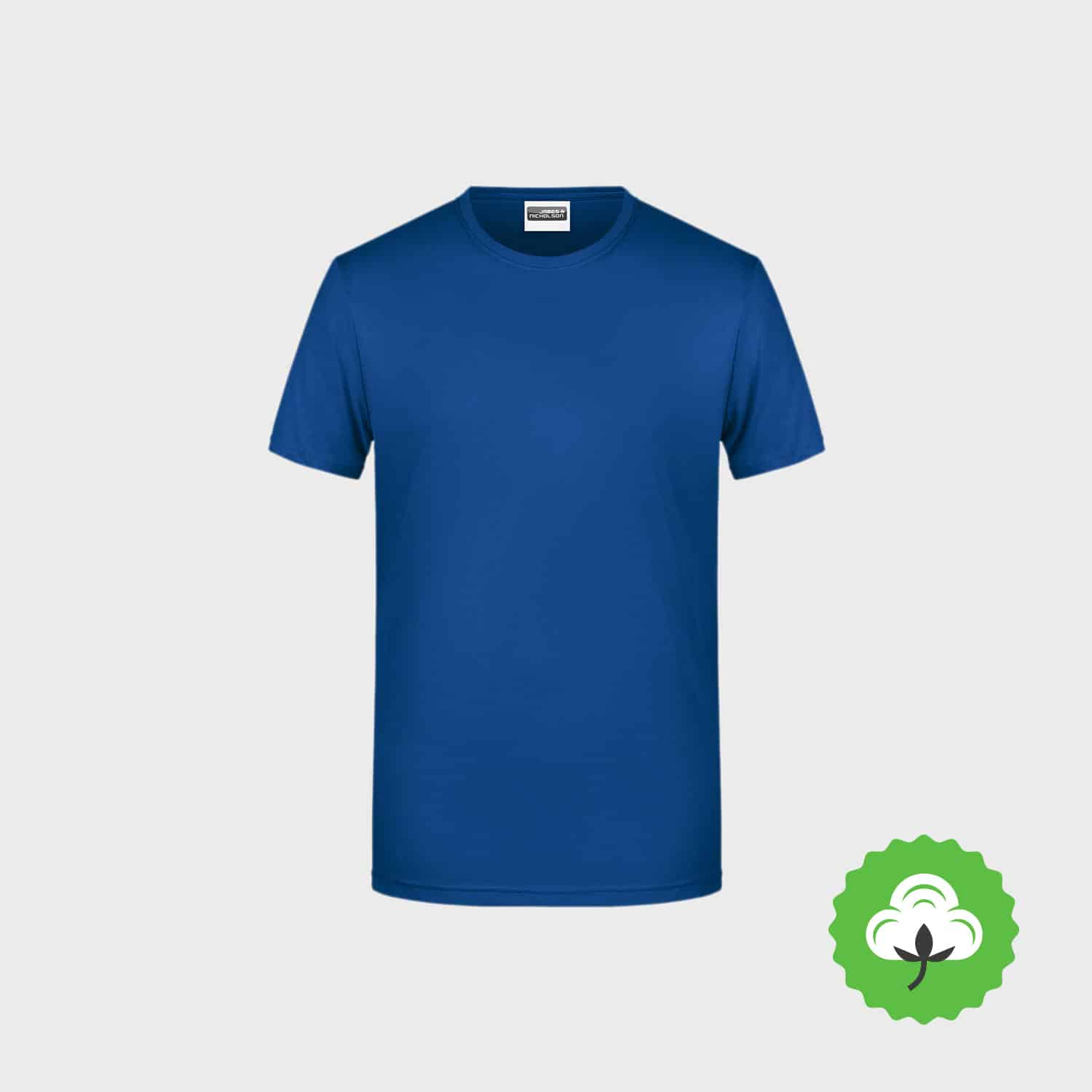 Bio T Shirt Men Basic Bio Cotton Ash 8008 StickManufaktur