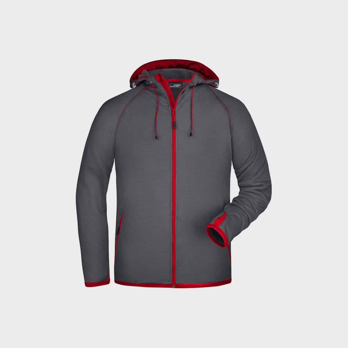 Daiber SweatJackets JN571 Carbon Red Side
