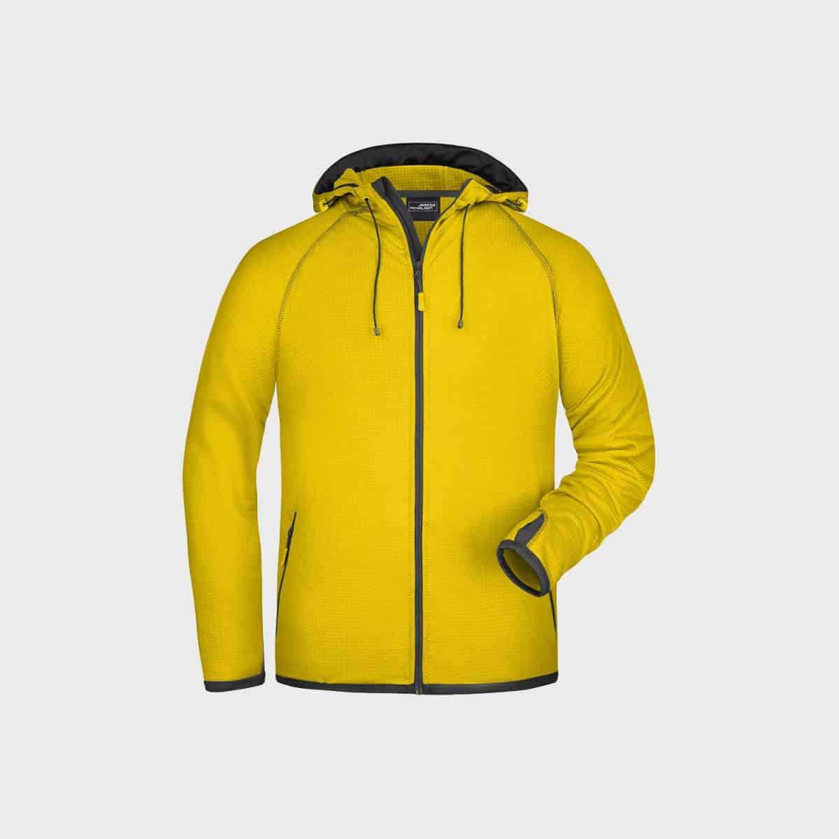Daiber SweatJackets JN571 Yellow Carbon Side