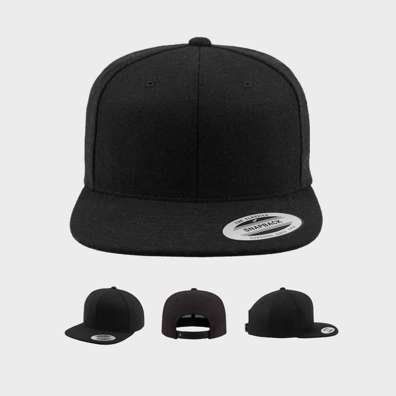 Flexfit Snapback FFE 6689M Black Front Extra